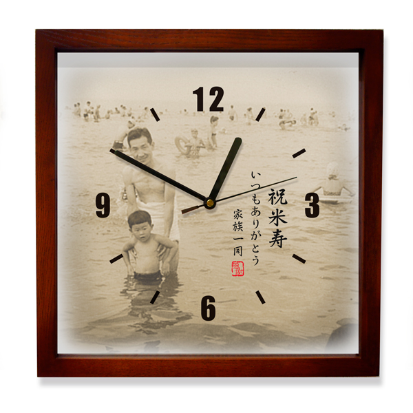 思い出写真館時計